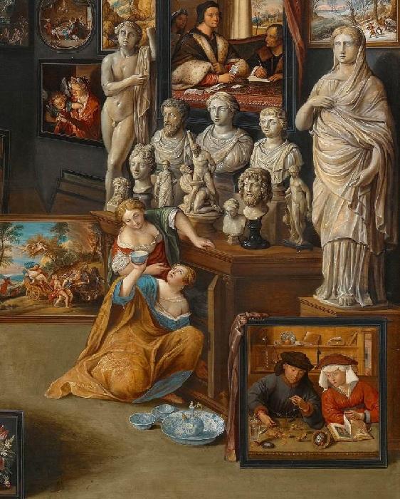 «Александр Македонский в мастерской Апеллеса». (ок.1630). Фрагмент. Автор: Виллем ван Хахт.